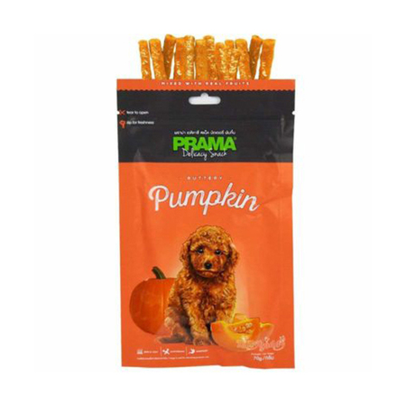 Prama Buttery Pumpkin Flavored Dog Treats In Pouch - Petsnpets