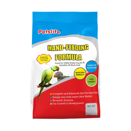 Petslife Hand Feeding Formula for Baby Green Parrot Bird - Petsnpets