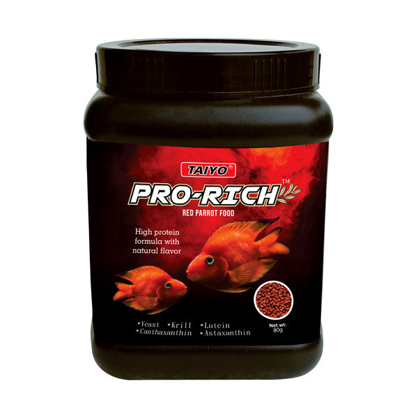 Taiyo Pro-Rich Premium Red Parrot Fish Food 80g - Petsnpets