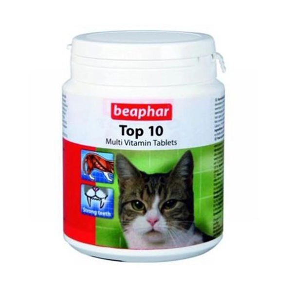 Beaphar Top 10 Multi Vitamin Tablets for Cats - Petsnpets
