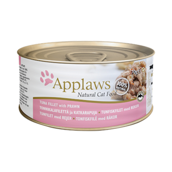 Applaws Tuna Fillet With Prawn Gravy For Adult Cat In Tin - Petsnpets